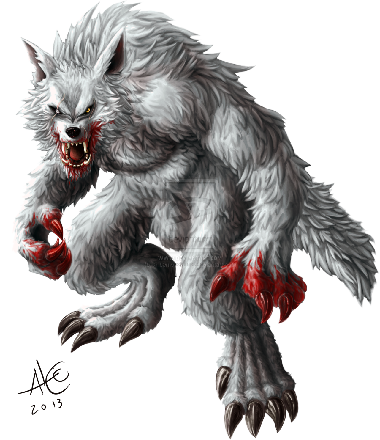 Transparent werewolf white alpha. By alicemonstrinho deviantart com