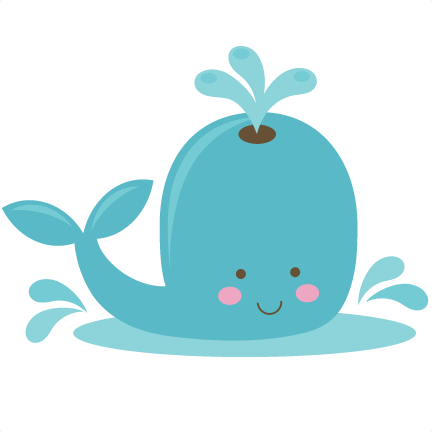 Transparent whale adorable cartoon. Cute svg file for