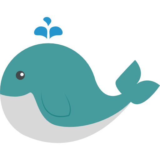 Transparent whale cartoon. Sea animals png images
