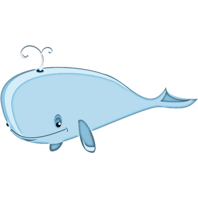 Transparent whale clear background. Sea animals png images