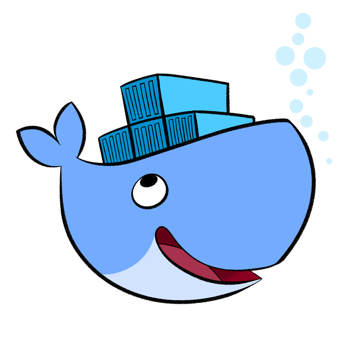 Transparent whale docker. Dockerize stuff