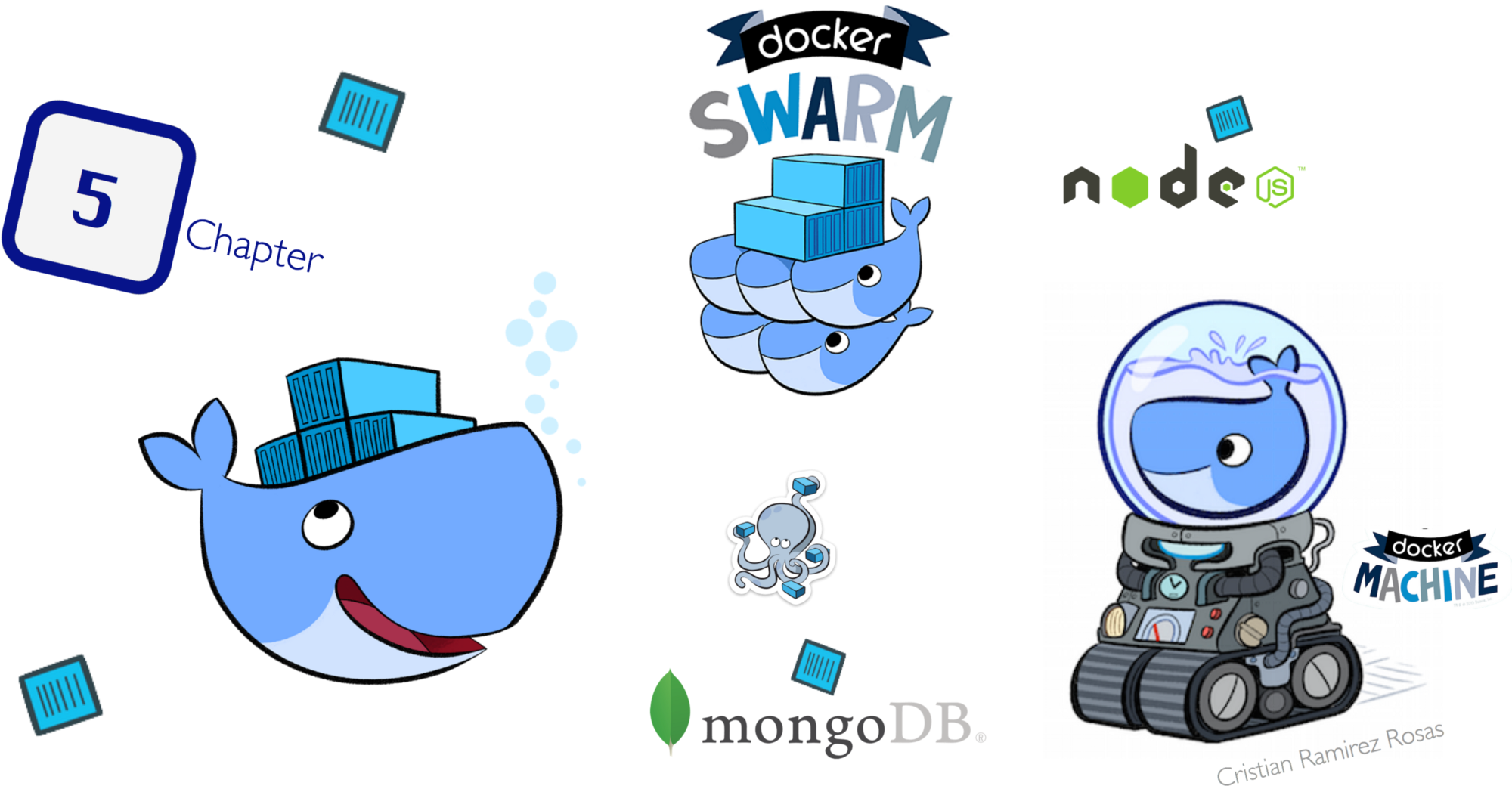 Transparent whale docker. Deploy nodejs microservices to