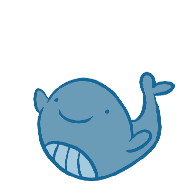 Transparent whale kawaii. Casual dieting weight manager