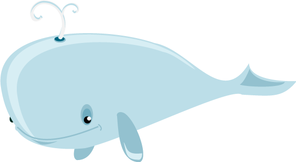 Transparent whale light. Free dolphin and graphics