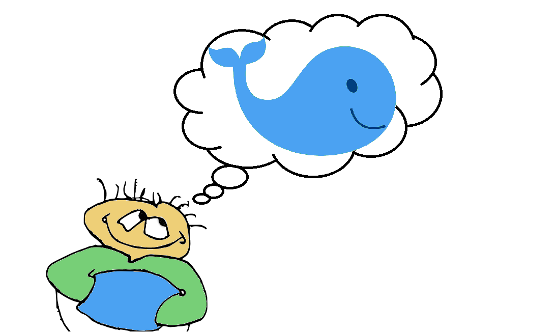 Transparent whale motivation. To be a you