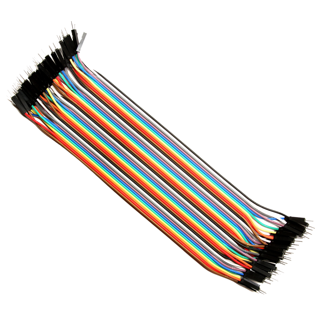 Transparent wires breadboard. Male to jumper cable
