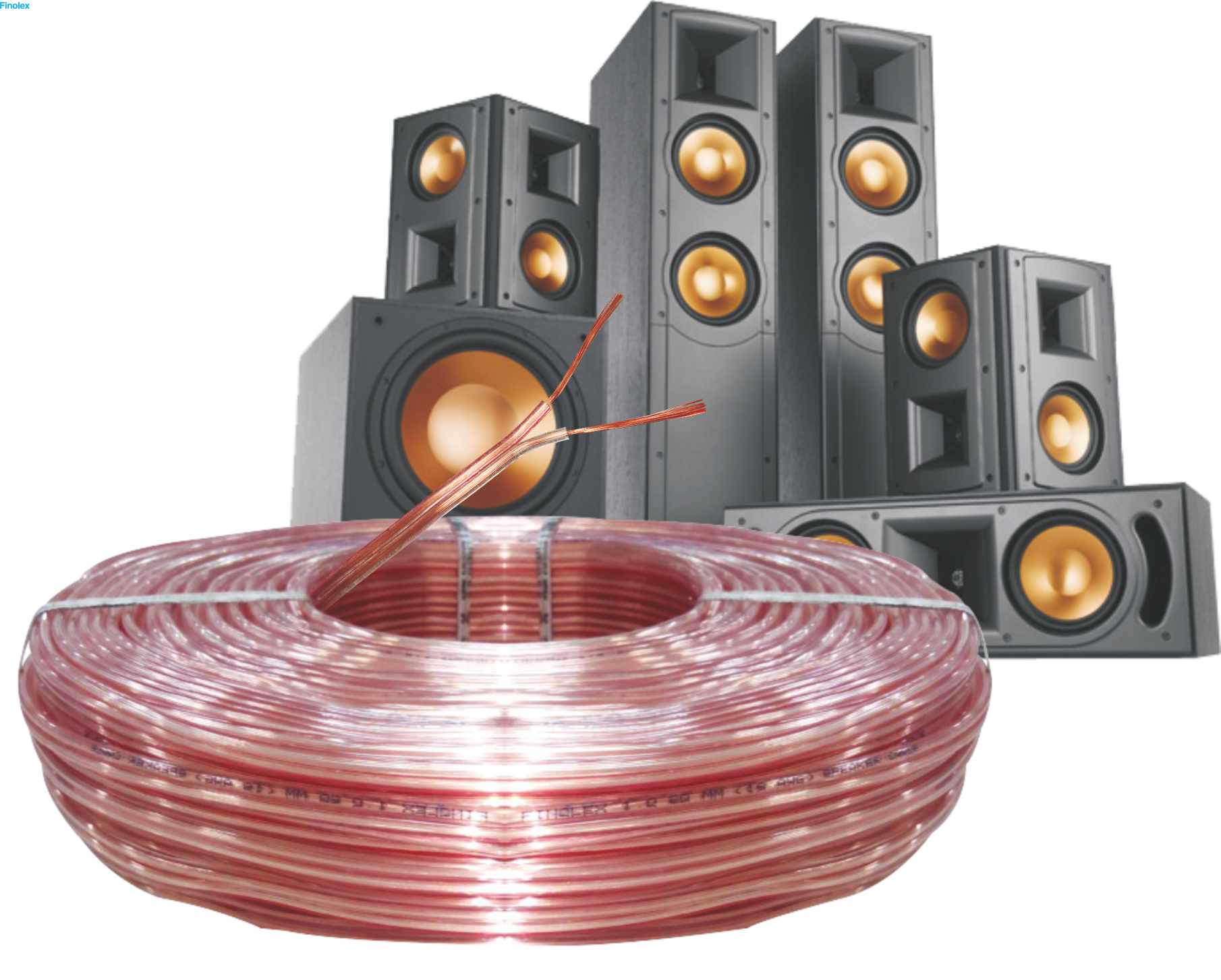 Transparent wires speaker. Cable sqmm cables