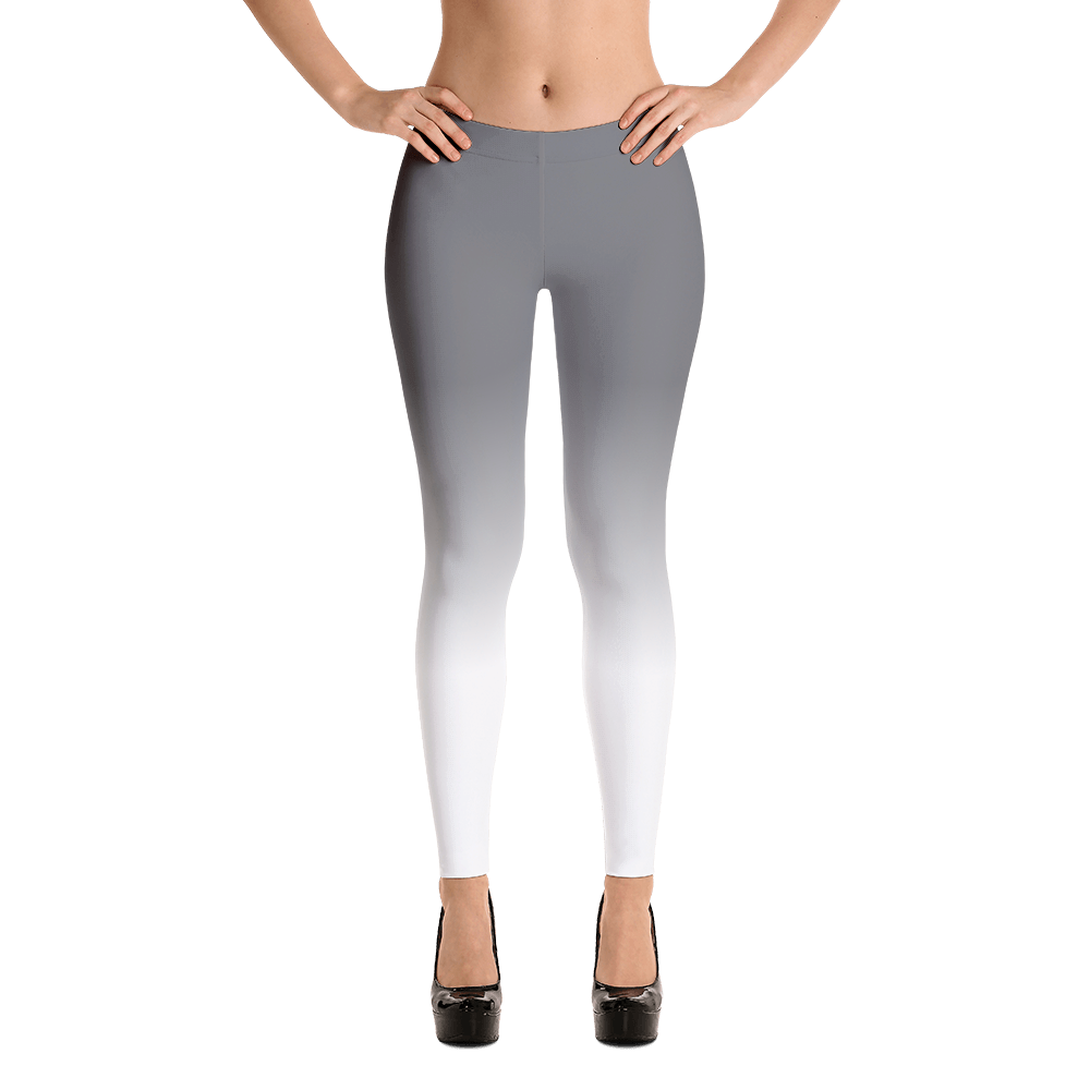 Women transparent spandex. Grey and white ombre
