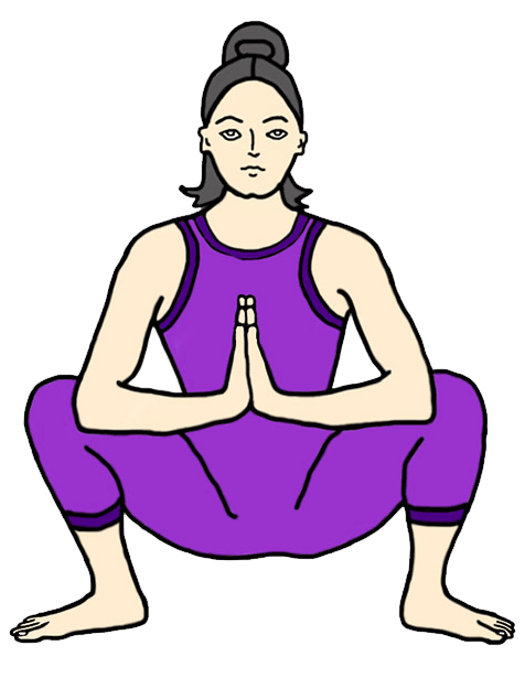 Yoga clip exercise. Poses for women
