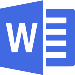 Transparent word blue. Royal microsoft icon free