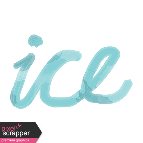 Winter arabesque ice art. Transparent word cold clip library