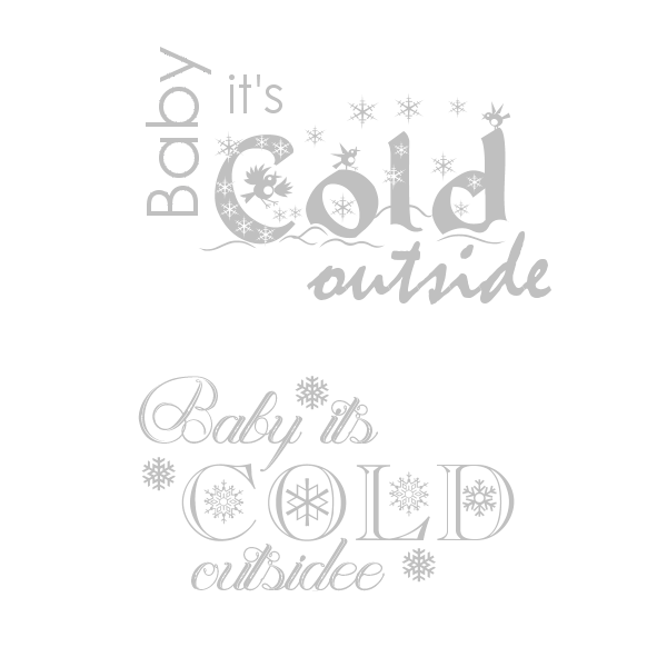 Transparent word cold. Graphic groupies baby it