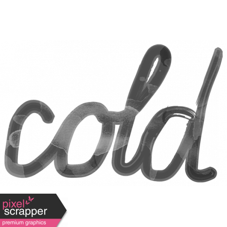 Transparent word cold. Art template graphic by