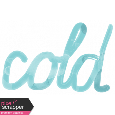 Transparent word cold. Winter arabesque art graphic