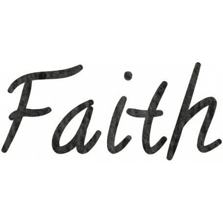 Tiny but mighty art. Transparent word faith png
