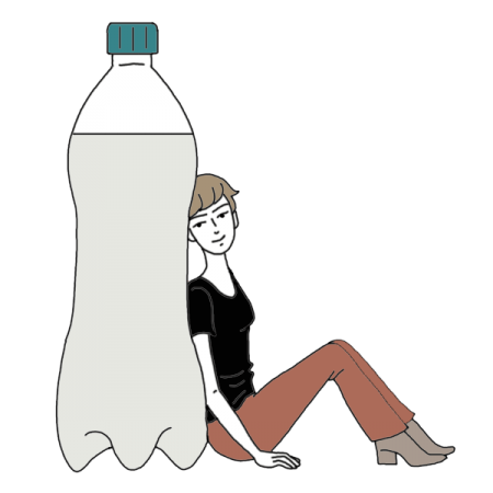 Transparent worm bottled water. Bottle of dream dictionary