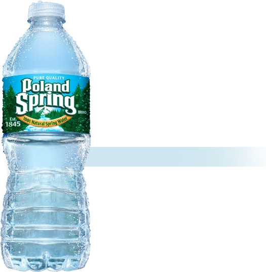 Transparent worm bottled water. Happy easter