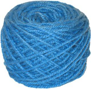 Transparent yarn blue. Download bright hand dyed
