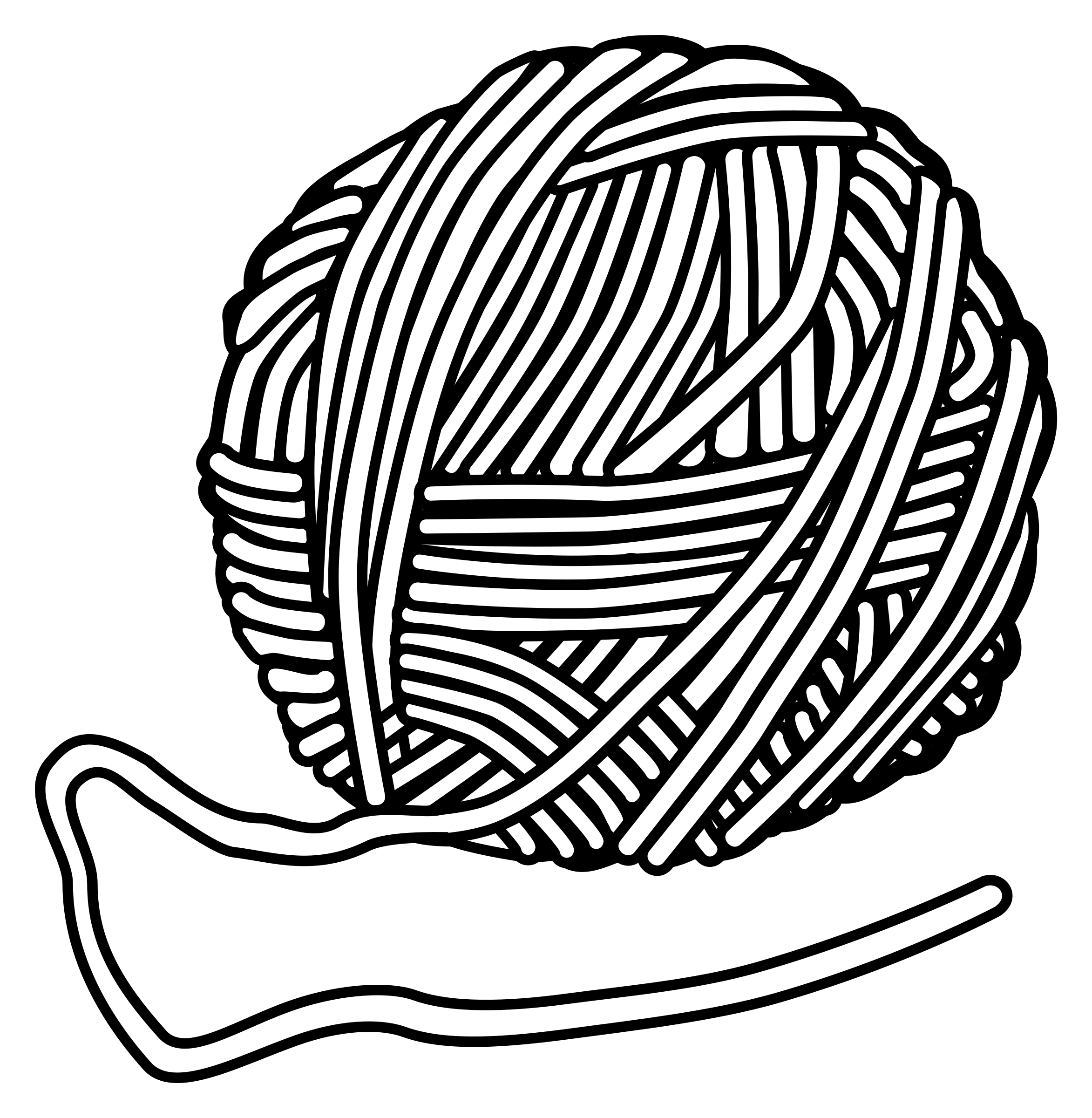 Transparent yarn coloring page. Banner royalty free