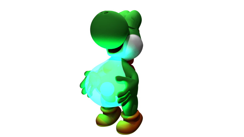 Transparent yoshi fat. S glrowing belly by