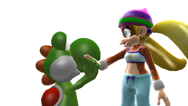 Transparent yoshi mmd. And tiny kong high