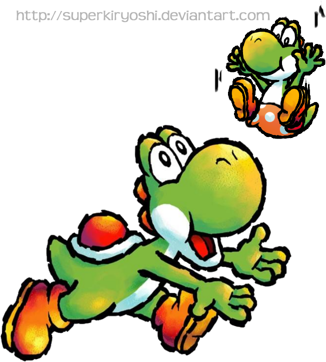 Transparent yoshi old. Playing nice nintendo s