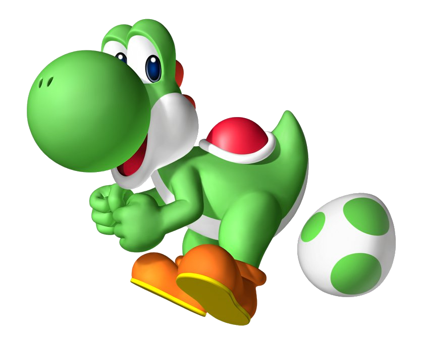 Transparent yoshi tongue. Is perhaps best known