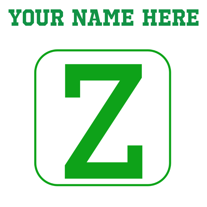 Custom green mousepad by. Transparent z block letter image library stock