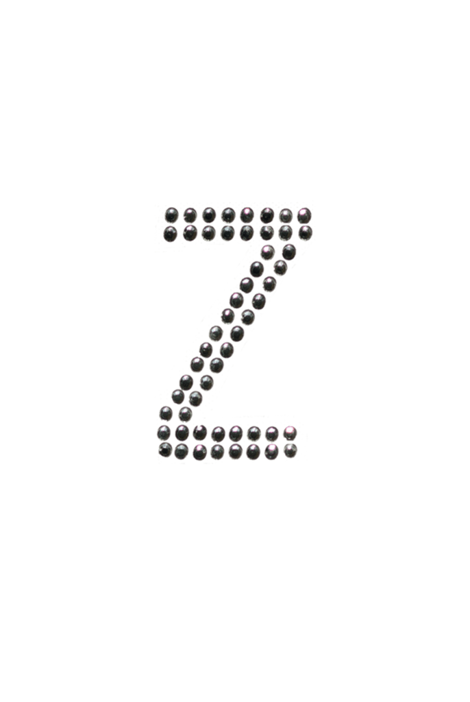 Clear crystal me n. Transparent z block letter clip royalty free library