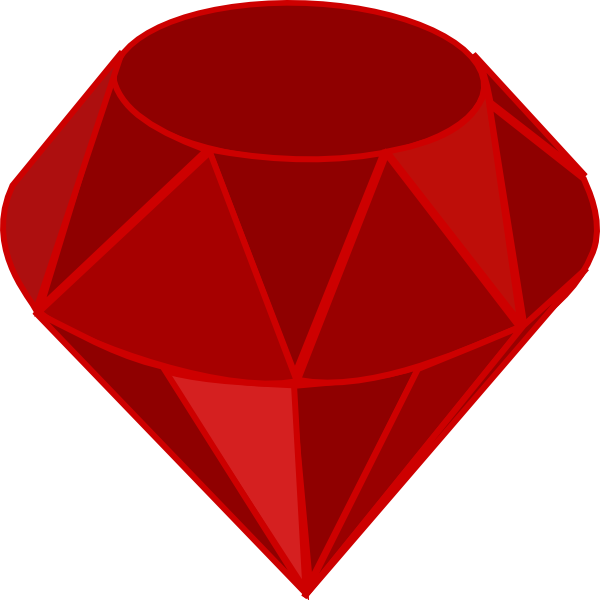 Gem transparent ruby. Clip art at clker