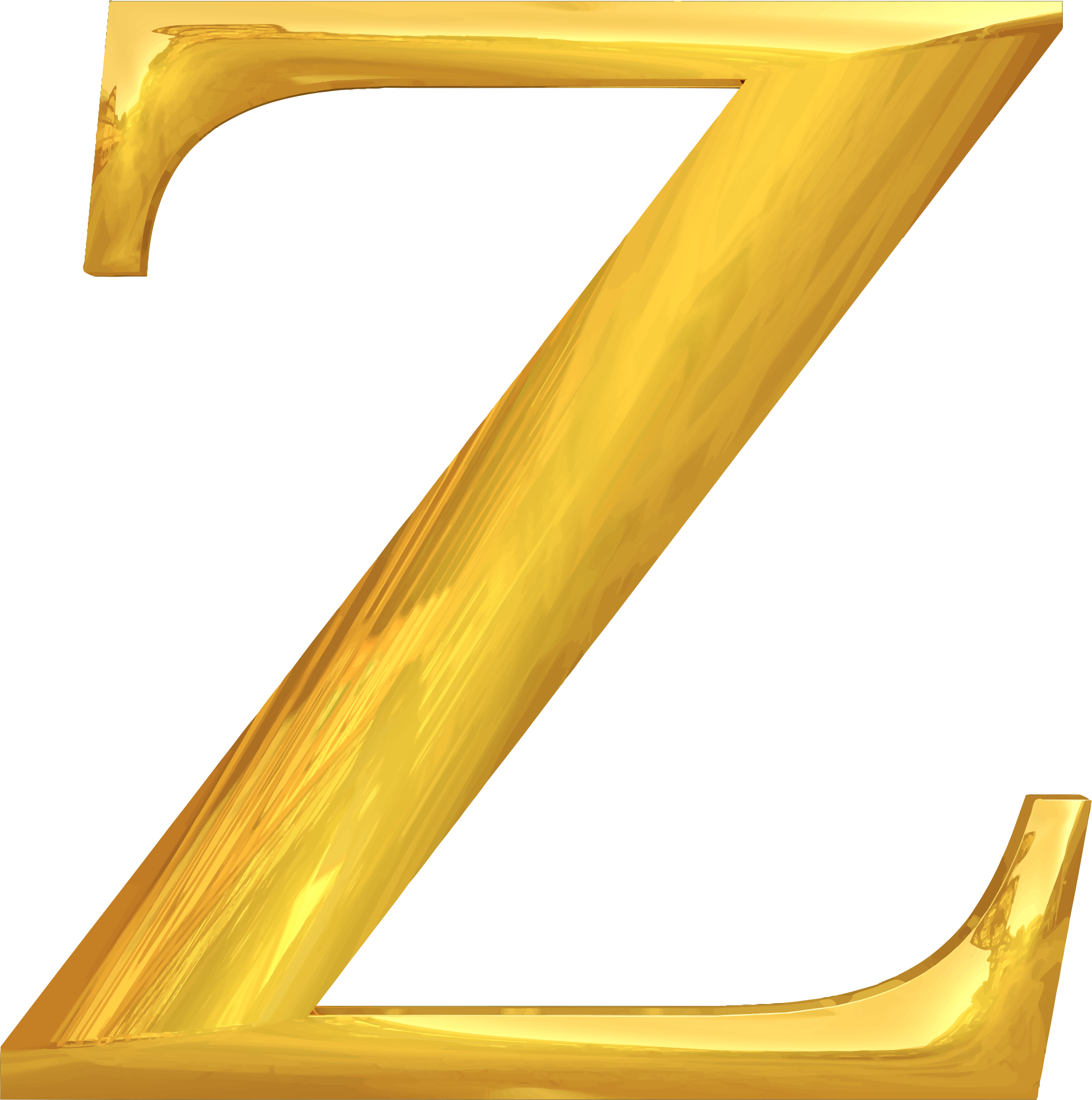Transparent z gold. Clipart typography big image