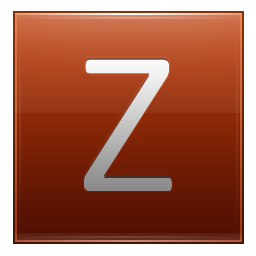 Transparent z orange. Letter icon multipurpose alphabet