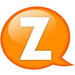 Transparent z orange. Speech balloon icon iconset
