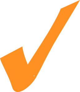 Transparent z orange. Checkmark clip art at