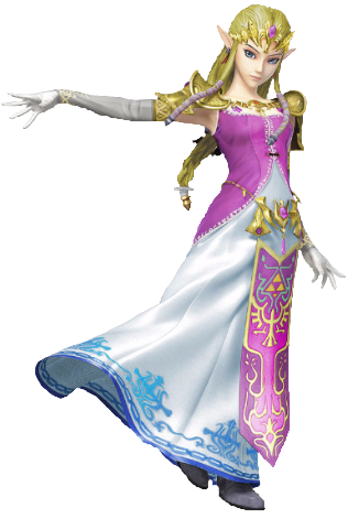 Transparent zelda. Princess ssb alternate by