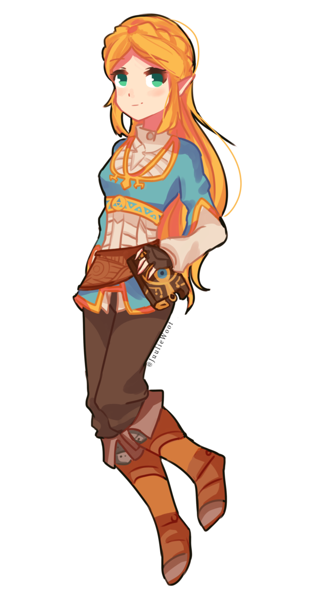Transparent zelda. Botw by juuliewoof on
