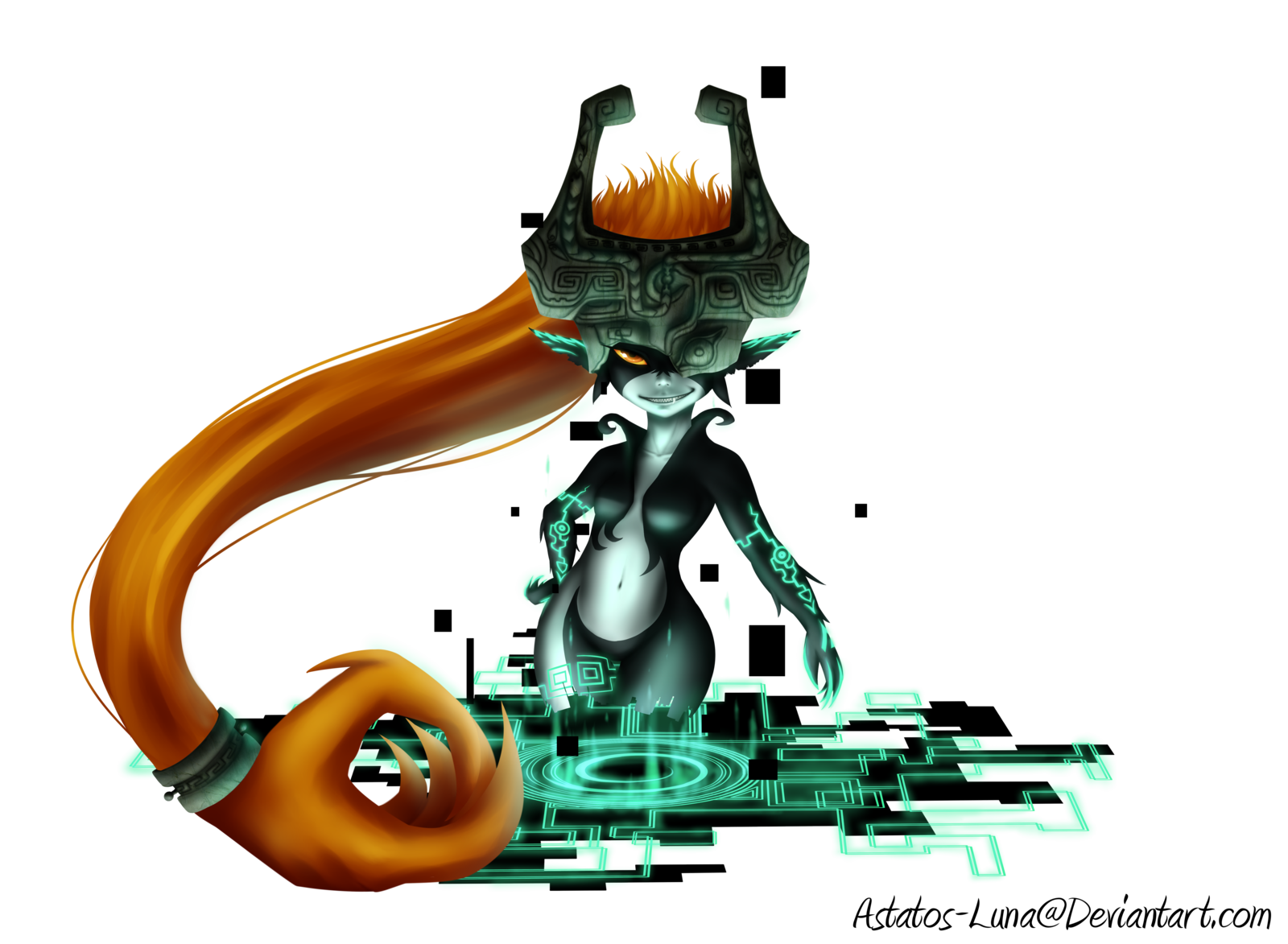 Transparent zelda background. Midna painting by astatos