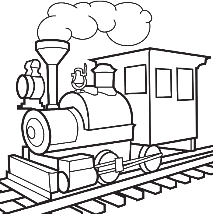Transport drawing. Train for children at