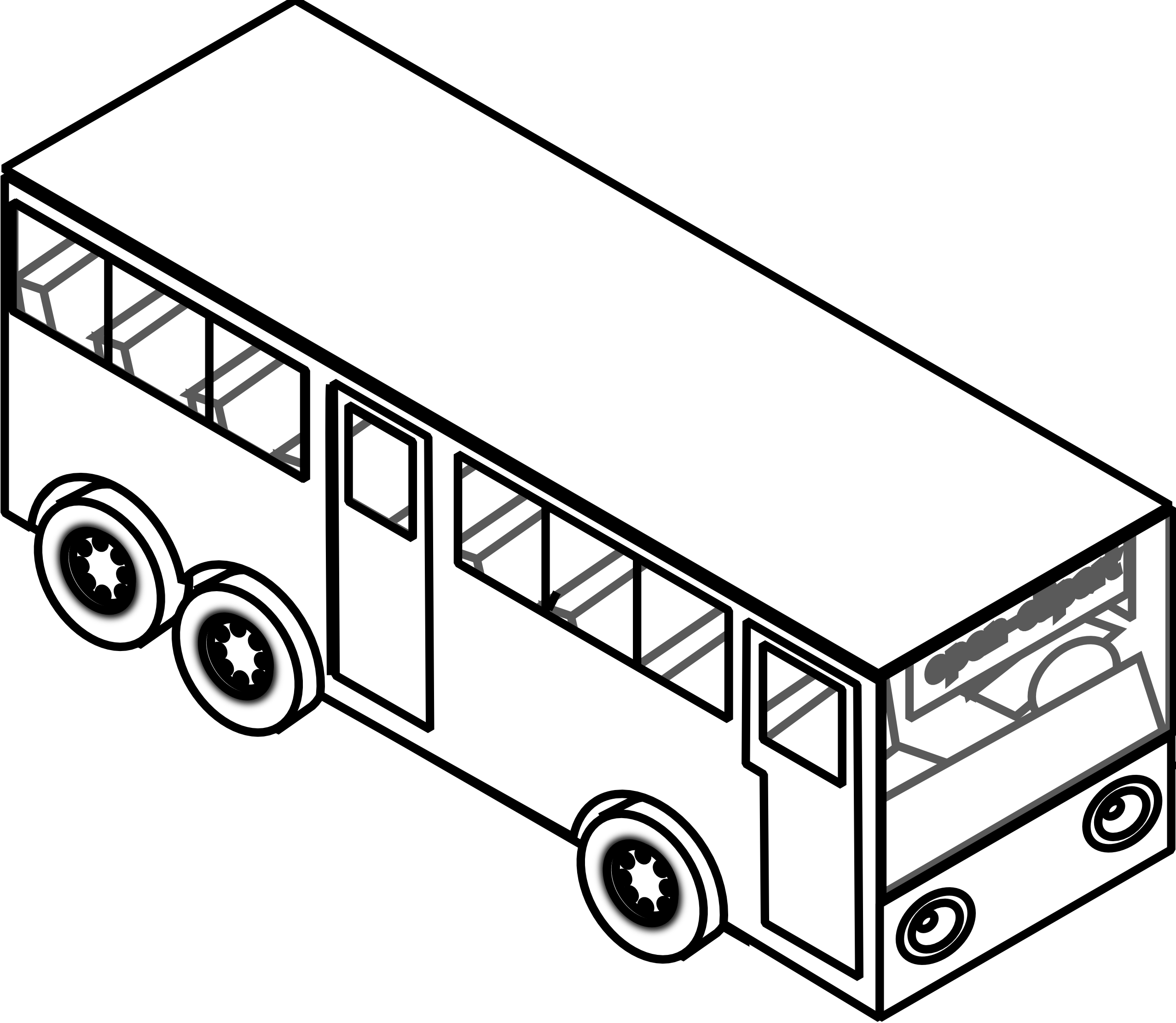 Transport drawing. Black and white car