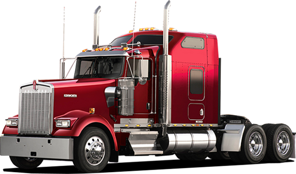 Transport drawing freight truck. Trucking company with logistics