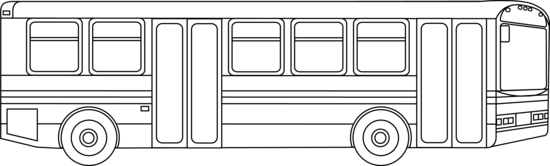 Transport drawing outline. Public transportation bus free