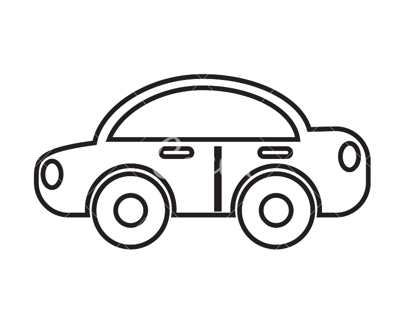 Transport drawing outline. Car silhouette icons by