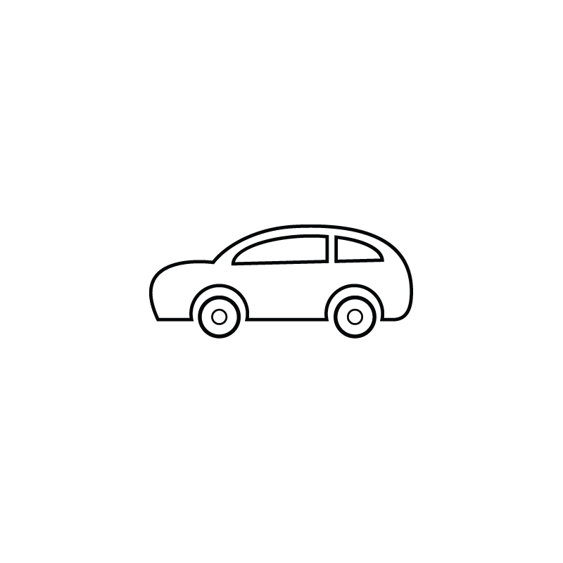 Transport drawing sports car. Small wagon vector icon