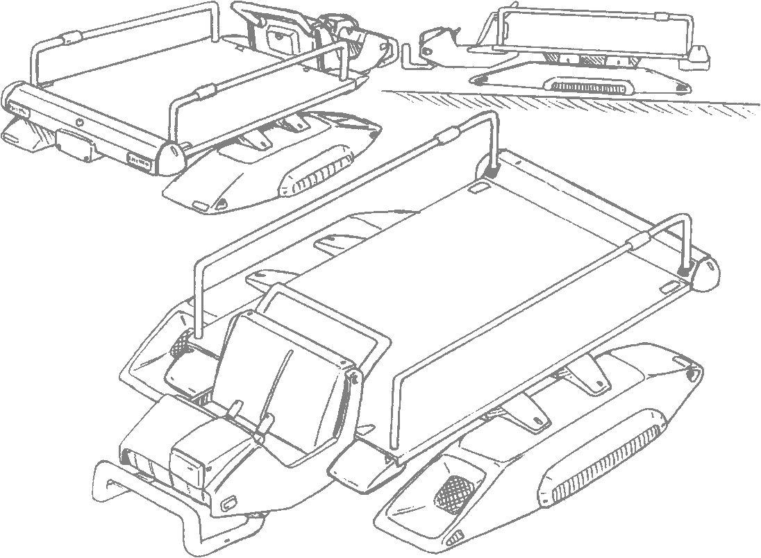 Transport drawing war. Technology lk speeder truck