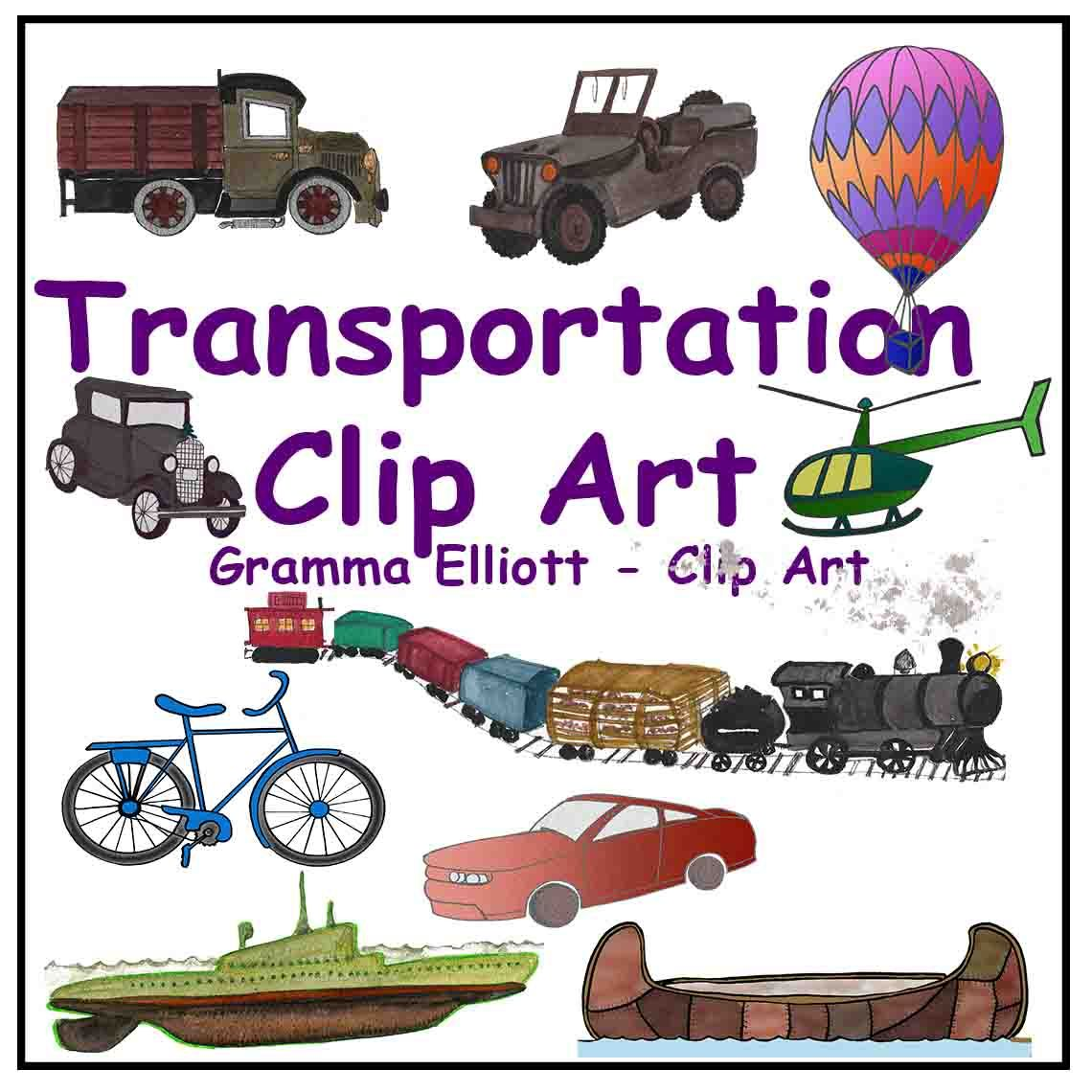 Transportation clipart bycicle. Clip art train boat