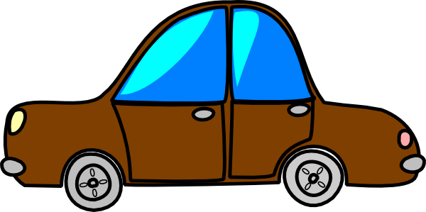 Transportation vector cartoon. Car brown transport clip