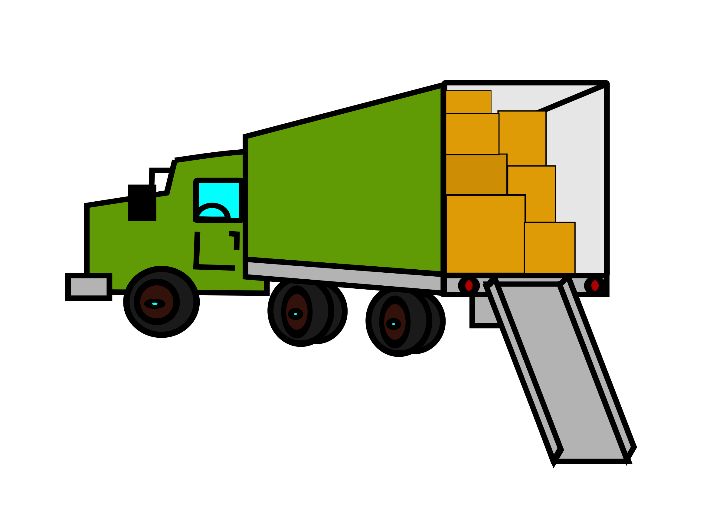 transportation vector mover truck