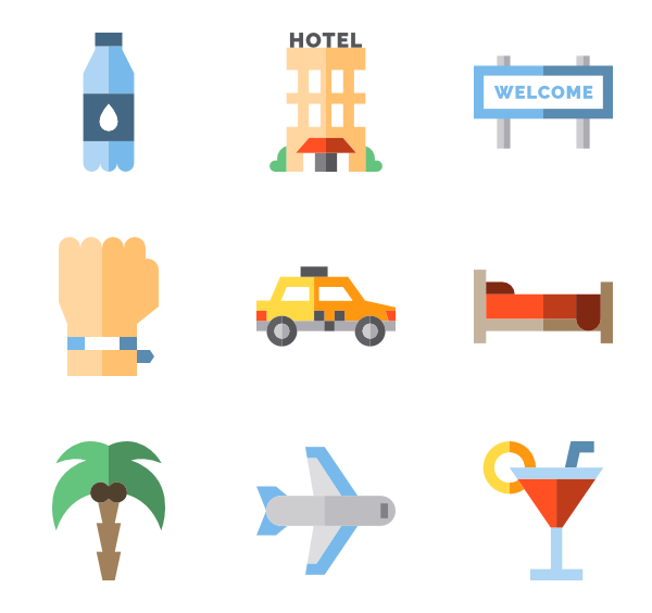 Transportation vector travel. Baggage icon packs
