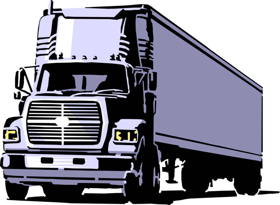 Transportation vector trucking. Commercial delivery transport truck