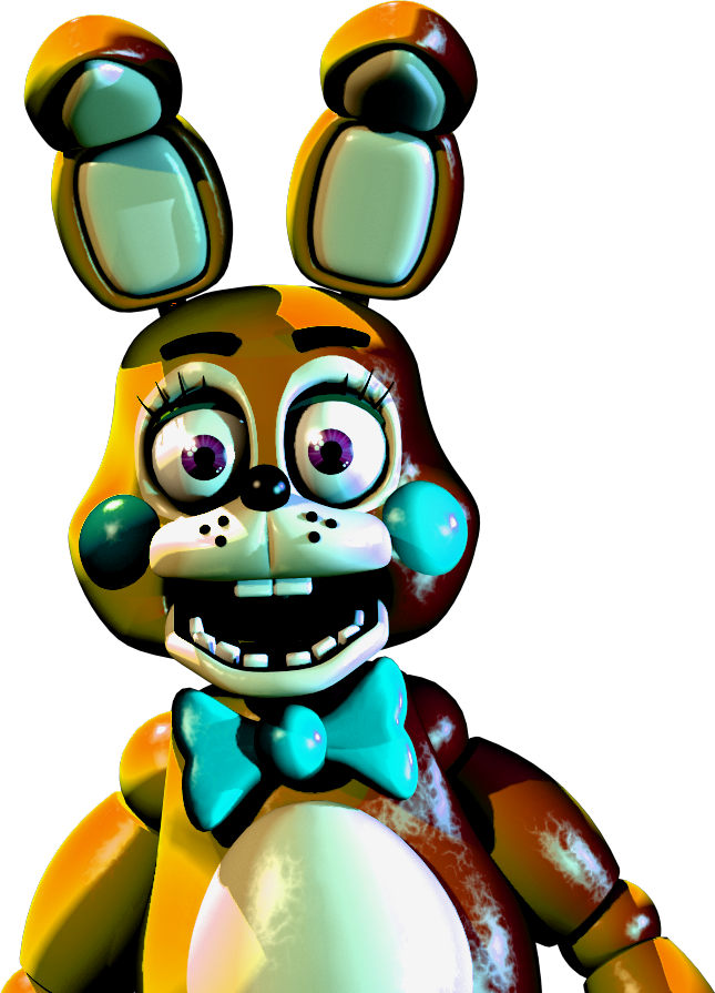 Trap vector springtrap. Golden toy bonnie by